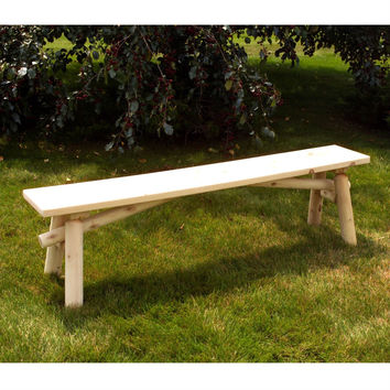 Unfinished Pine Wood Outdoor Picnic Garden Bench - Made in USA
