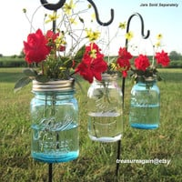 DIY Hanging Vases 12 Ball Mason Jar Hanging Flower Frog LIDS, for Candles, Flowers, Lanterns, Mason Jar Weddings