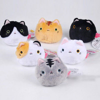 7CM Cartoon Cat Plush Stuffed TOY Soft Keychain Gift TOY DOLL Kids Toys