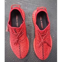 Women Yeezy Boost Adidas Sneakers Running Sports Shoes Red H