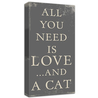 All you need is love and a cat...canvas art. #cat