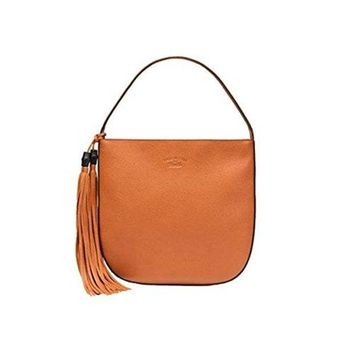 DCCK6N8 Gucci Lady Tassel Leather Hobo Shoulder Bag 354475, Orange