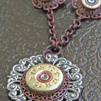 12 Gauge and 410 Shotgun Shell Necklace