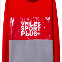 RED POLAR FLEECE PULLOVER | @VFILESSportPlus | VFILES