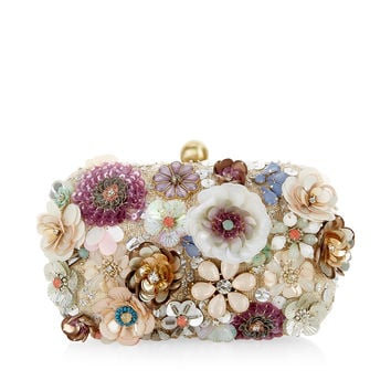 Summer Floral 3D Hardcase Clutch Bag | Multi | Accessorize