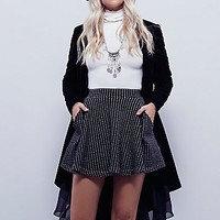 Free People Womens Flippy Floppy Skirt