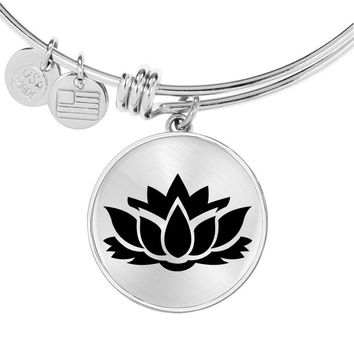 Lotus Flower - Bangle Bracelet