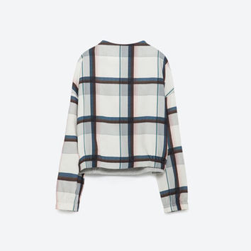 COMBINED CHECK SWEATSHIRT