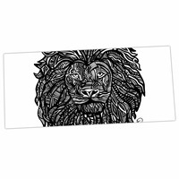 "Hippie Polar Bear ""The Leon"" Lion Illustration Desk Mat"