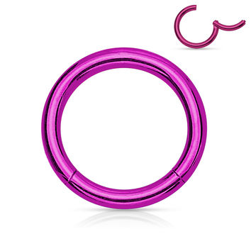 Titanium Anodized  Titanium Anodized  Surgical Steel Hinged Segment Rings Cartilage Tragus Daith Helix Body Jewelry 16ga