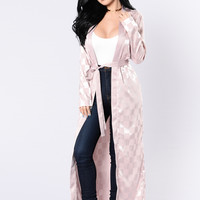 Check In Satin Duster - Mauve