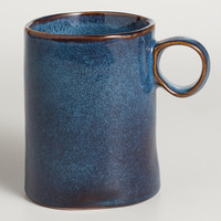 Indigo Reactive Glaze Mugs, Set of 2 - World Market