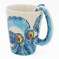 3D Ceramic Octopus Coffee Tea Cup Mug