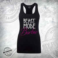 Beast Mode. Workout Tank Top. Racerback Tank Top. Womens Workout Tank. Exercise Tank. Gym Tank. Running Tank. Beast Mode Barbie
