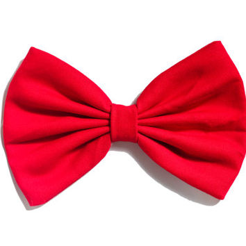 Red Colored Hair Bow