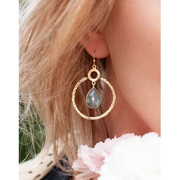 Chloe Earrings - Labradorite (BJE004B)