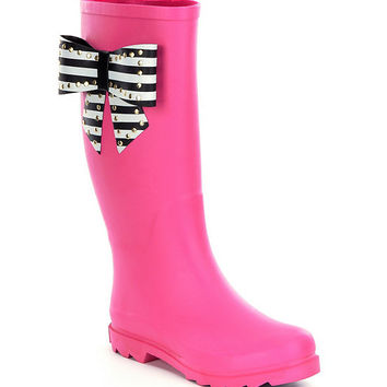 Betsey Johnson Stormm Bow Rain Boots | Dillards