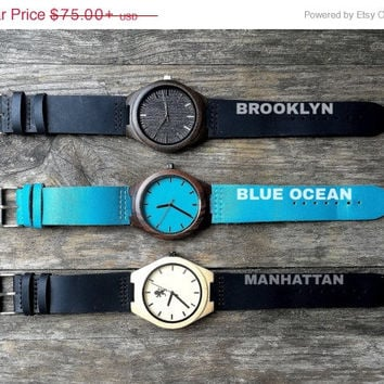 SALE Personlized Watch. Watches. Engrave Watch. Personalized Watch. Montre Bois, Montre En Bois Gravé. Wood Watch. Kavemen. Combo