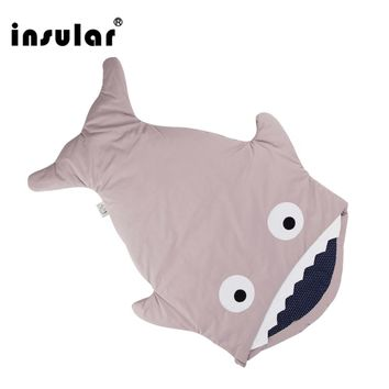 New Arrival Cute Carton Shark Baby Sleeping Bag Winter Baby Sleep Sack Warm Baby Blanket Warm Swaddle