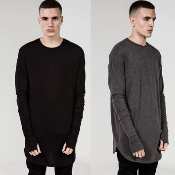 Full Sleeve O-neck Casual Long T-Shirt