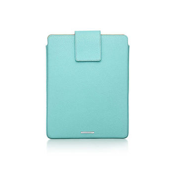 Tiffany & Co. - Tiffany tablet cover in Tiffany Blue® grain leather. More colors available.