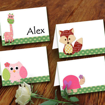 printable Children tent Labels Baby Tent Blank baby blank tent place cards blank food tent cards giraffe owl Children tent cards (439)
