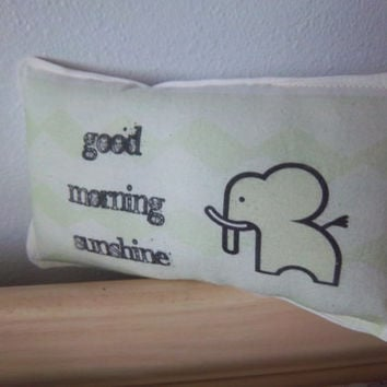 good morning sunshine pillow ornament decoration handmade baby nursery kids room decor unique organic cotton decoration