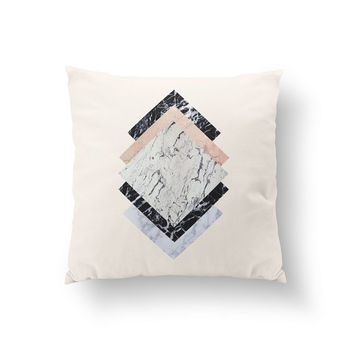Marble Rectangle Pillow, Geometric Square Pillow, Home Decor, Cushion Cover, Throw Pillow, Bedroom Decor, Decorative Pillow, Abstract Pillow