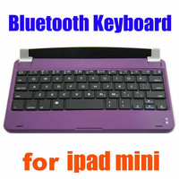 New!!!Ultra Slim Wireless Bluetooth Keyboard Bottom Aluminum for iPad Mini Mluti Colors with Holder and Retail Free Shipping Box goodbiz