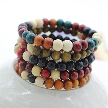 Wonlife Men&Women Beads Bracelets Rappers Jewelry Gifts Sandalwood Chinese Buddhist Buddha Meditation Prayer Strand Bracelet