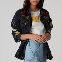 Beads Me Patched Denim Jacket