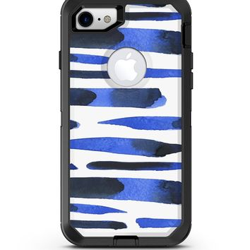 Watercolor Strokes of Blue on Black 2 - iPhone 7 or 8 OtterBox Case & Skin Kits