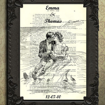 Custom Love Art Print Vintage Book Page - Personalized Dictionary Print