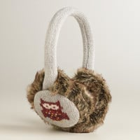 Owl Faux Fur Earmuffs - World Market