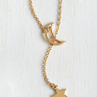 Minimal Comet Allez-Vous Necklace by ModCloth