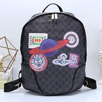 Gucci Women Fashion School Travel Backpack Daypack Bookbag