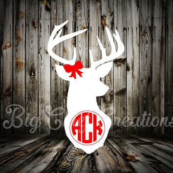 Deer Monogram Decal