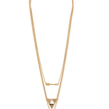 Arrow Pendant Necklace Set
