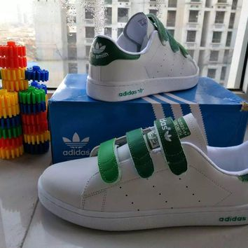 """Adidas Stan Smith"" Unisex Sport Casual Multicolor Plate Shoes Sneakers Couple Velcro"