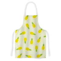 "Strawberringo ""Pineapple Pattern"" Yellow Fruit Artistic Apron"