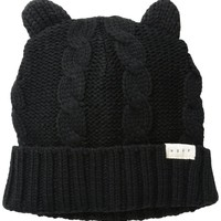 Women's Kat Cable-Knit Beanie with Cat Ears