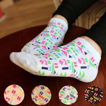 Womens Aztec Print Socks Autumn Winter Gift-06