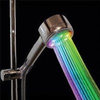 Color Changing Showerhead Nozzle - Rainbow LED Lights Cycle Every 2 Seconds