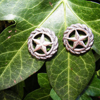 Vintage Silver Star Earrings