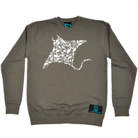 Open Water Manta Ray Scuba Diver Design Scuba Diving Sweatshirt