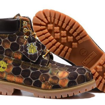 Men's Bee Line And Timberland 6-Inch Honeycomb Brown Waterproof Boots