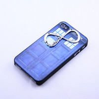 Iphone 4 4s case cover, Doctor Who Police Call Box  iphone 4 4s,one direction infinity iphone 4 4s