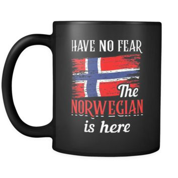 Have No Fear The Norwegian Is Here Mug in Black