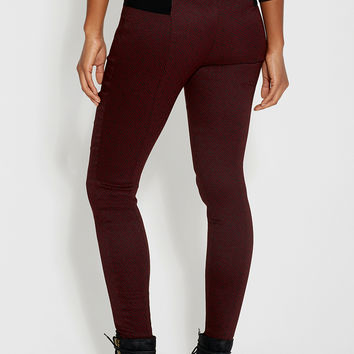 the skinny pant with elastic waistband in geometric pattern