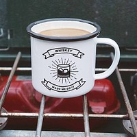 Whiskey Made Me Do It Enamel Camping Mug